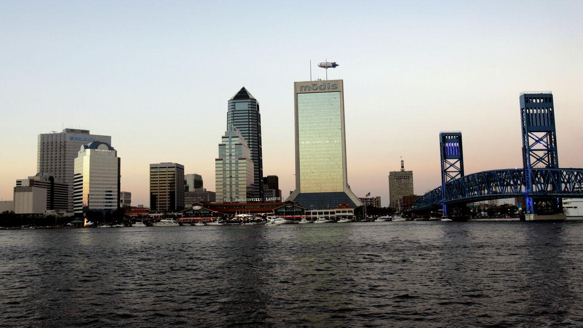 File photo of Jacksonville, Fla. skyline. (AP Photo/Robert E. Klein)