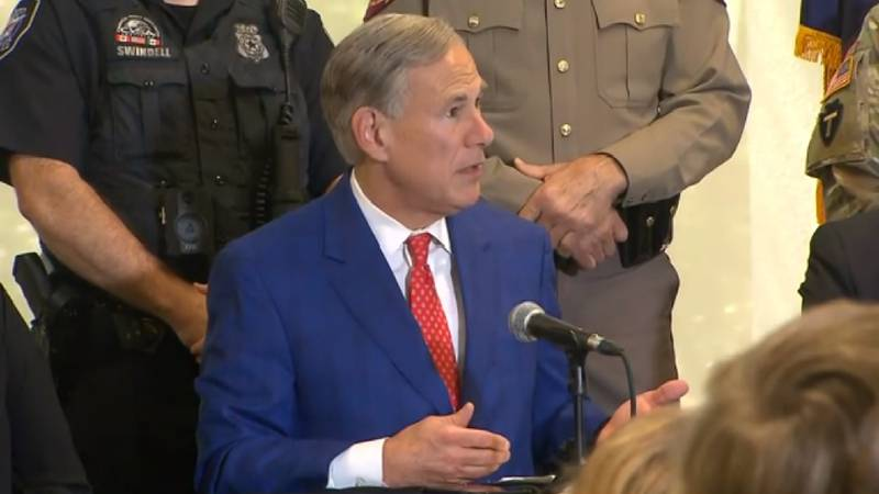 File photo: Governor Greg Abbott speaks about Del Rio issue