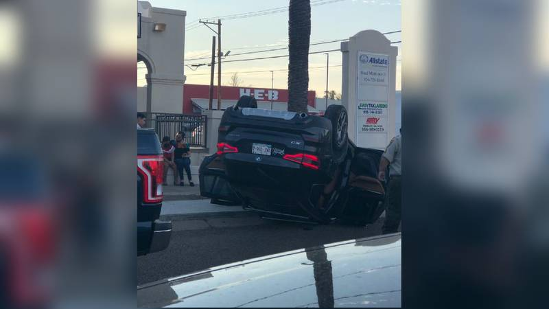 Rollover accident on Guadalupe and McPherson
