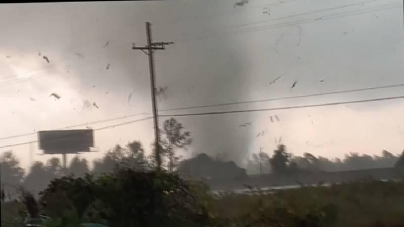 Tornado rips through Orange, Texas