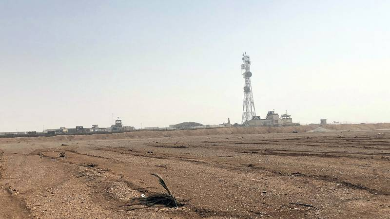 FILE  - Pictured is the al-Tanf military outpost in southern Syria. The U.S. trains Syrian...