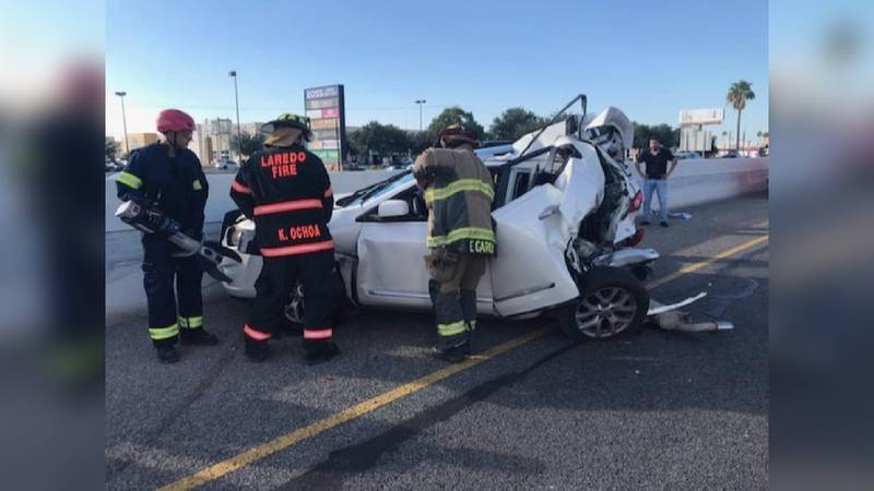 Two injured in accident on I-35