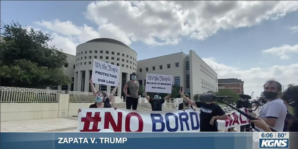 Zapata v. Trump border wall lawsuit continues
