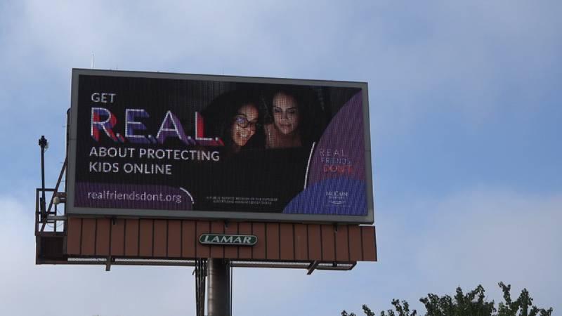 New billboard promotes internet safety