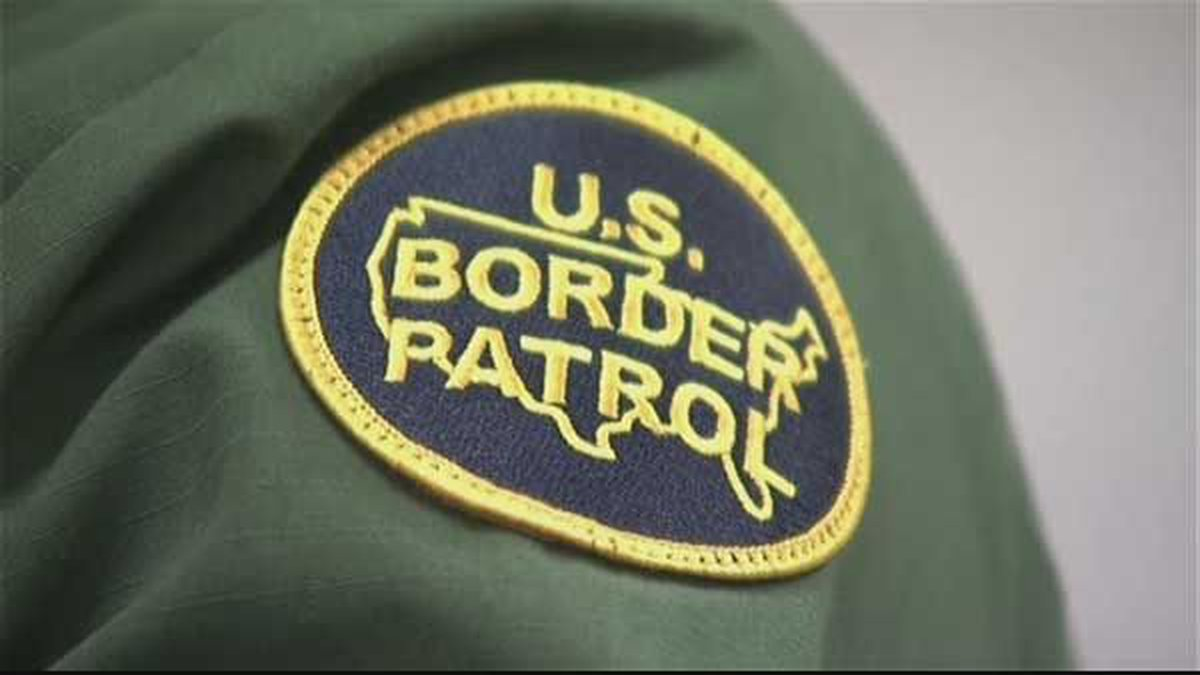The patch on the uniform of a U.S. Border Patrol officer.