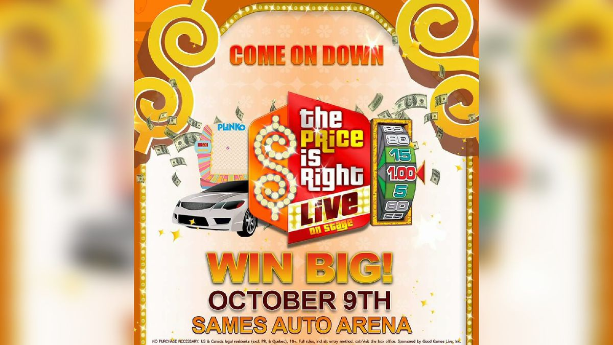Price is Right coming to Sames Auto Arena