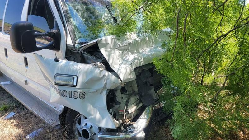 Chase with stolen ambulance crashes at mile marker 56