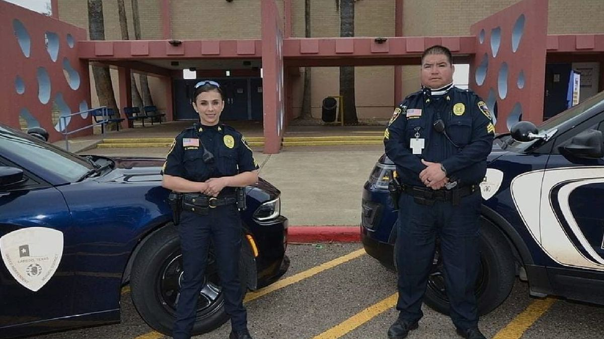 UISD Sgt. Claudia Mireles and Sgt. Alonso Galindo