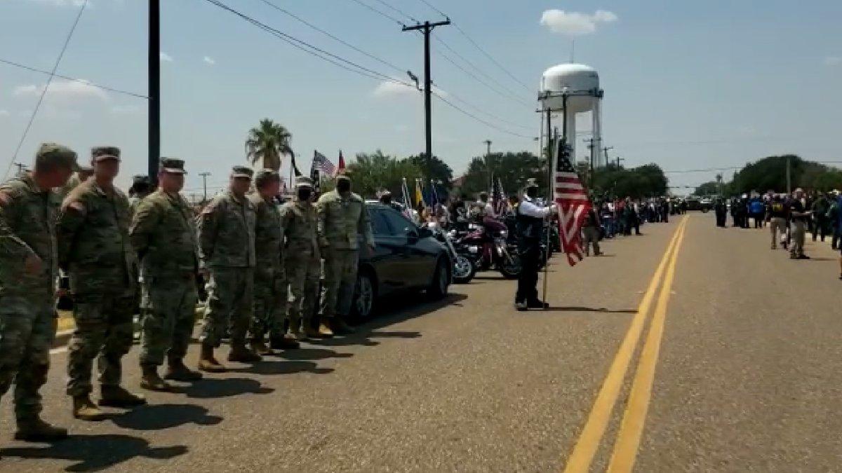 Community gathers to honor fallen Marine