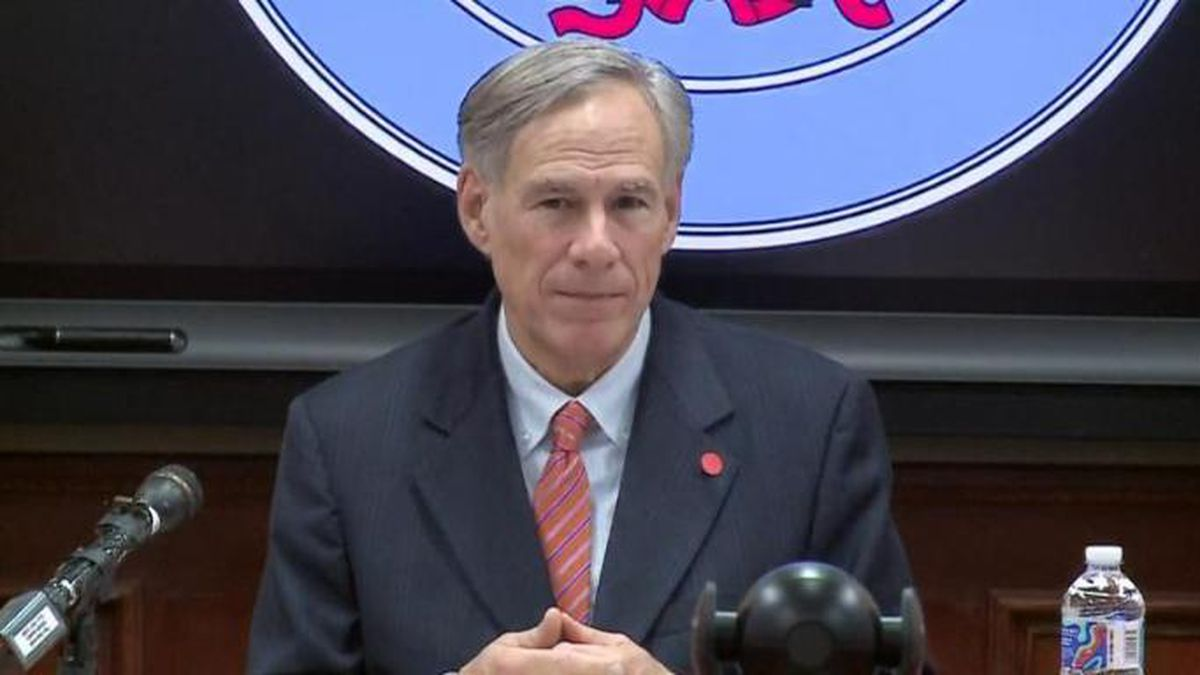 File photo: Texas Governor Greg Abbott