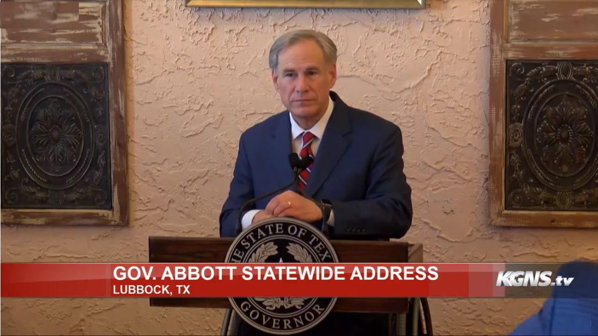 Governor Abbott holds press conference in Lubbock