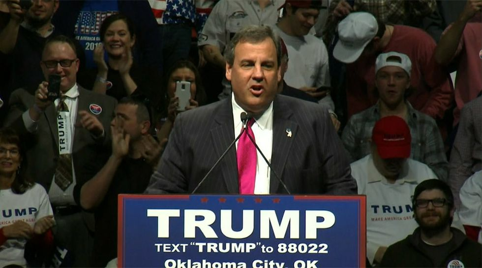 Chris Christie, shown in this file photo, is having second thoughts on masks after spending a week in the ICU suffering from COVID-19.