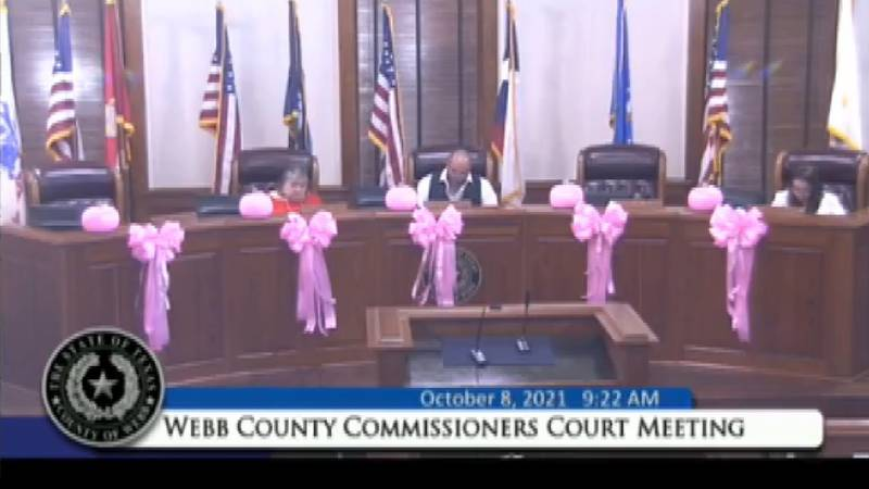 Webb County Commissioners Court meeting