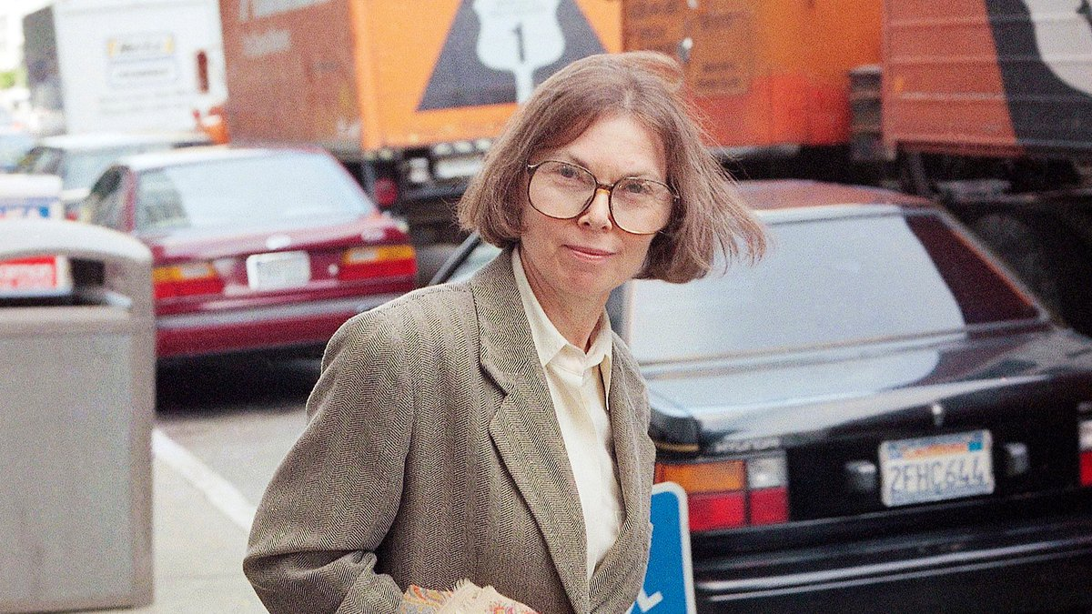 The New Yorker writer Janet Malcolm leaves the Federal Courthouse in San Francisco on June 3,...
