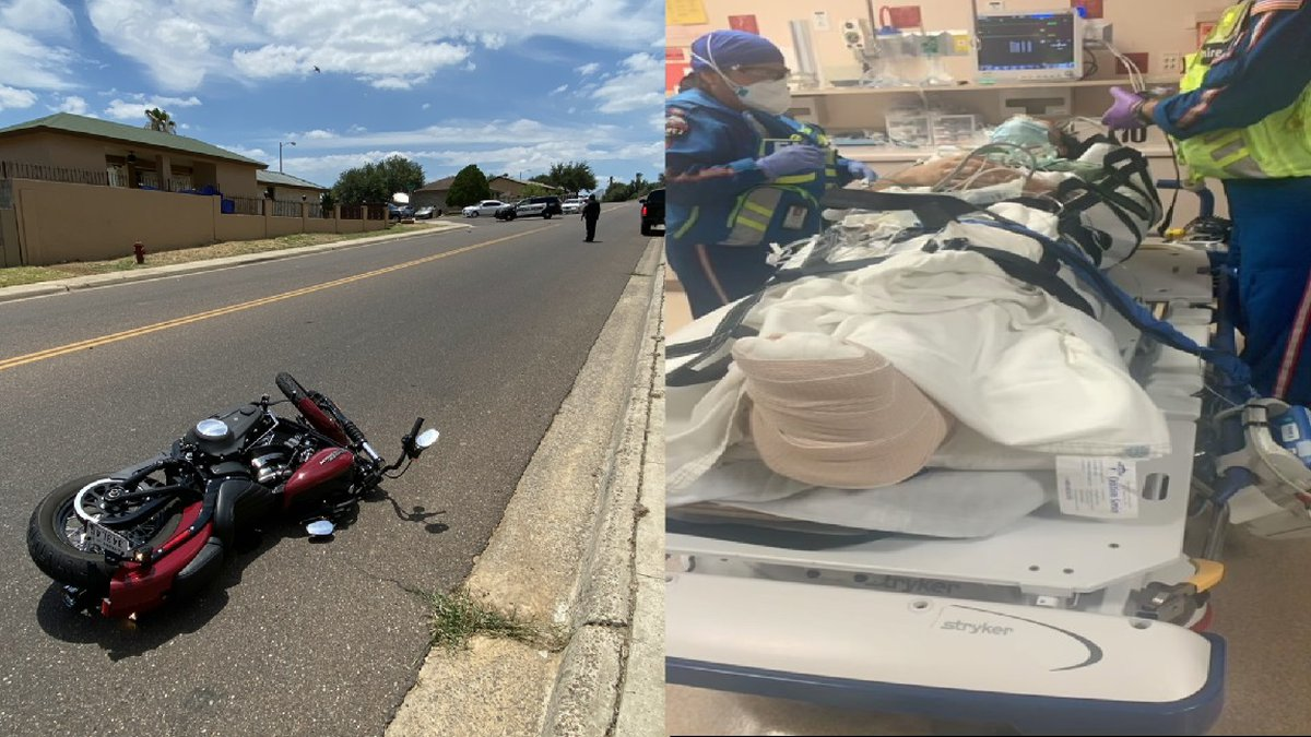 Teen injured in motorcycle accident