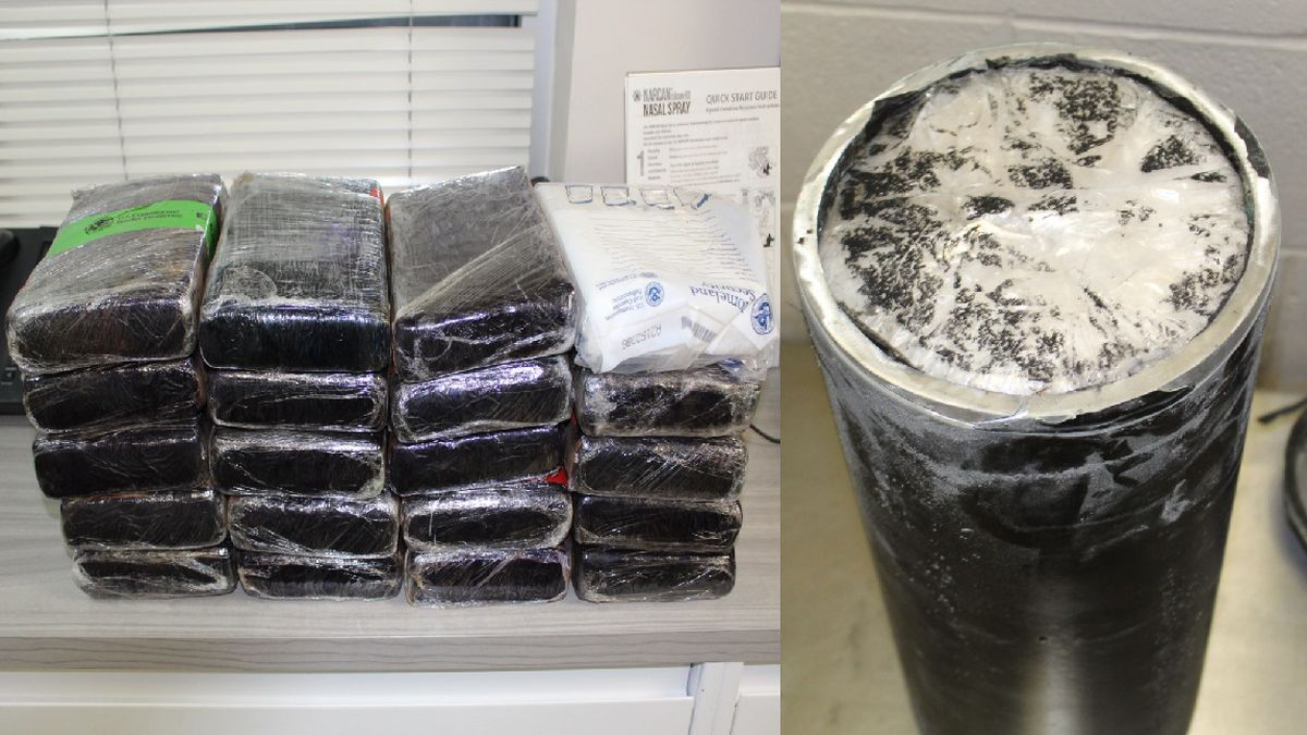 CBP officers find meth and cocaine hidden inside tractor trailers