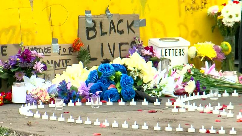 Parents and children are paying tribute to Daunte Wright, who was killed by a police officer in...