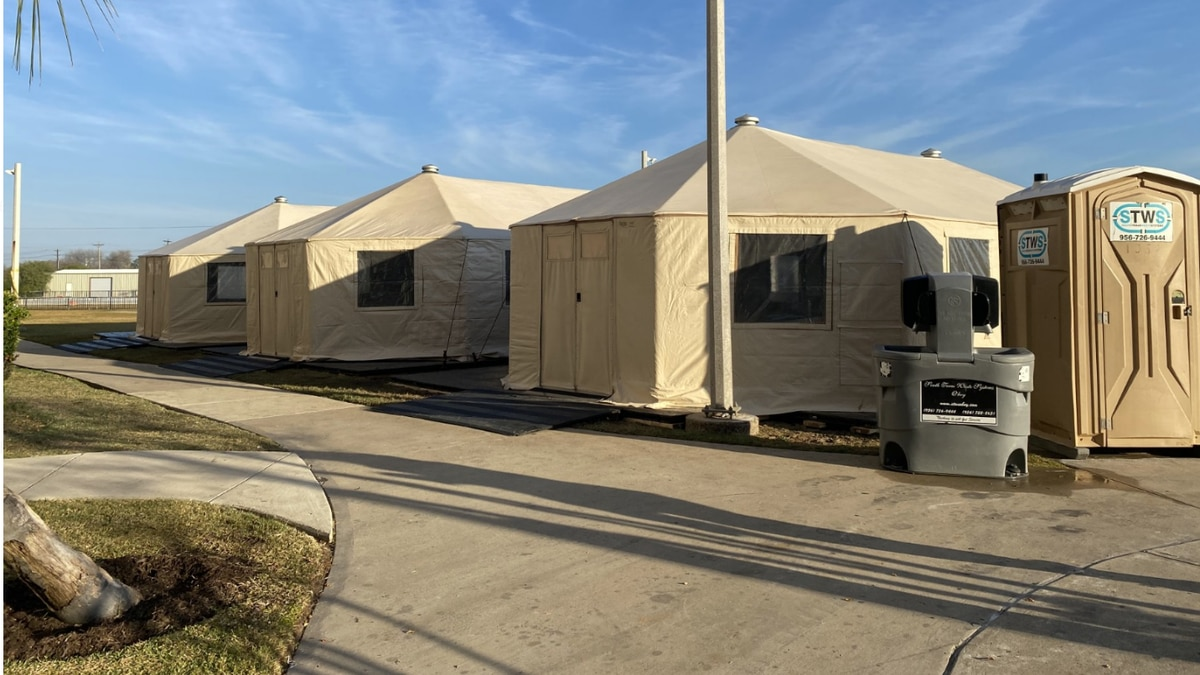 Tents installed for patient overflow