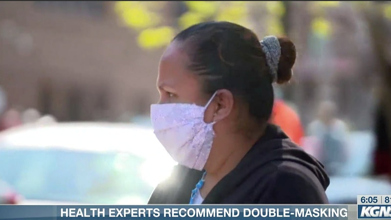 Health experts recommend double masking