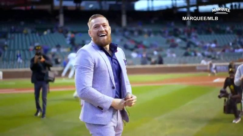 Connor McGregor throws wild pitch