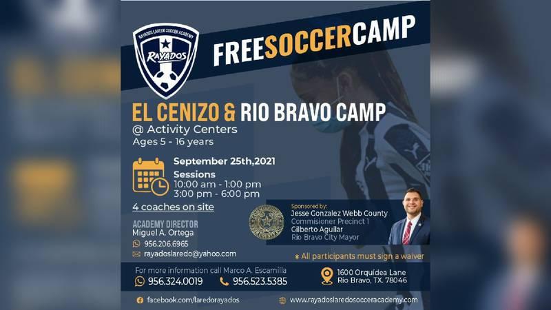 Rio Bravo to hold free soccer camp