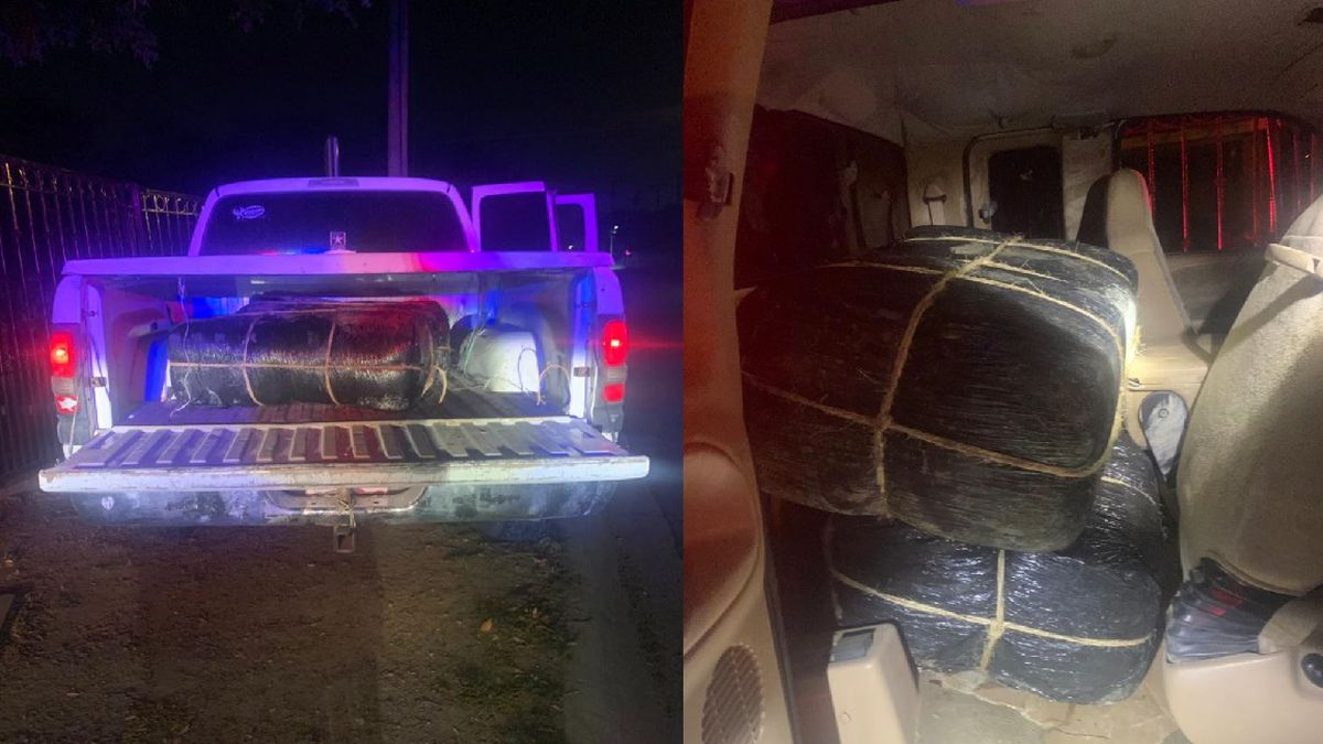 Agents find marijuana in abandoned pick up truck