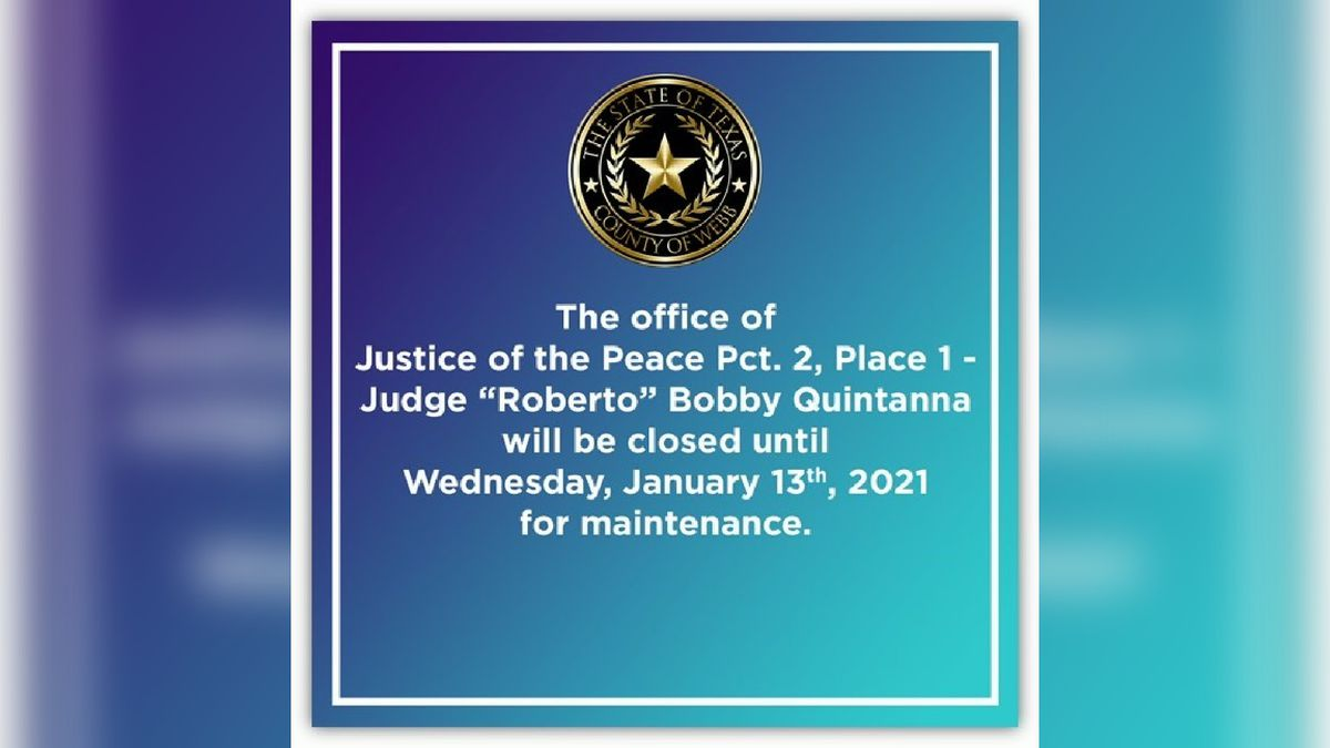 Justice of the Peace Precinct Two Place One office closed for maintenance