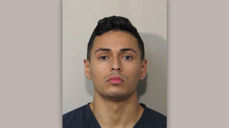 Victor Hugo Cuevas, 26, is charged with felony evading arrest. Police say they believe the pet...