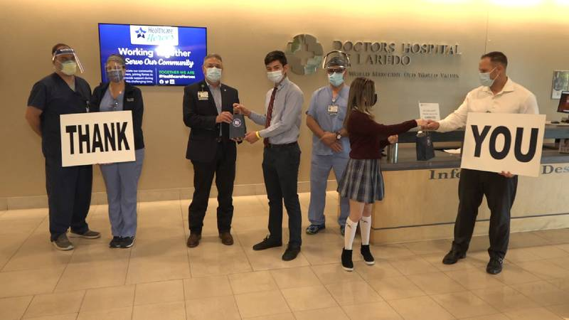 Saint Augustine students give back to healthcare workers