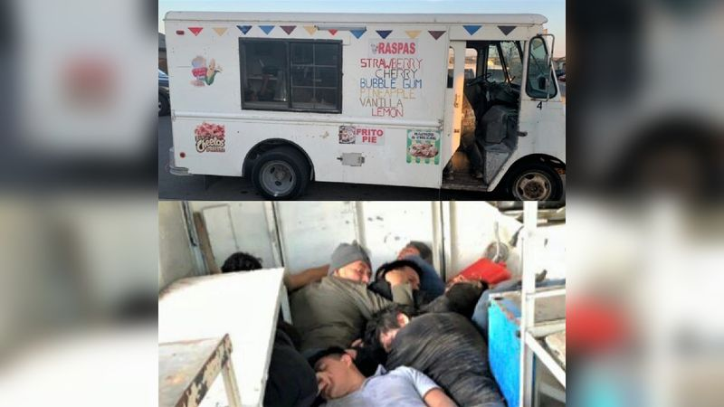 Agents foil unusual human smuggling attempt involving ice cream truck