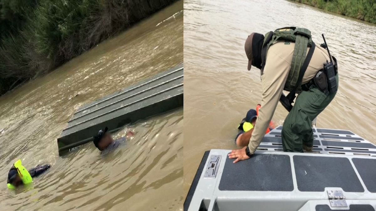 Agents rescue two men after boat capsizes