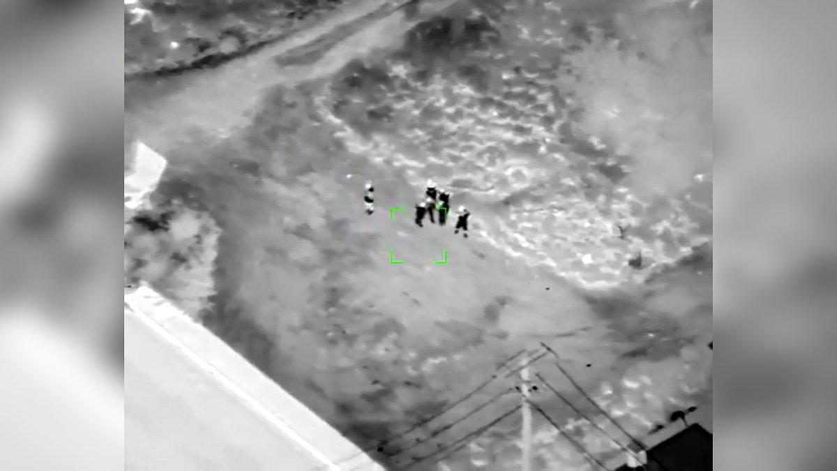 Drone video captures illegal border crossing