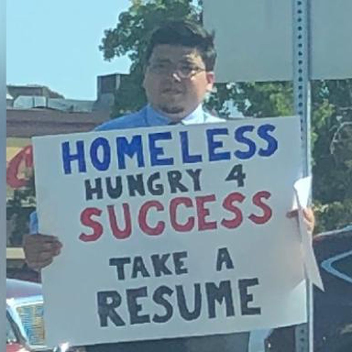 Homeless Man Begging For Work In California Lands A Job