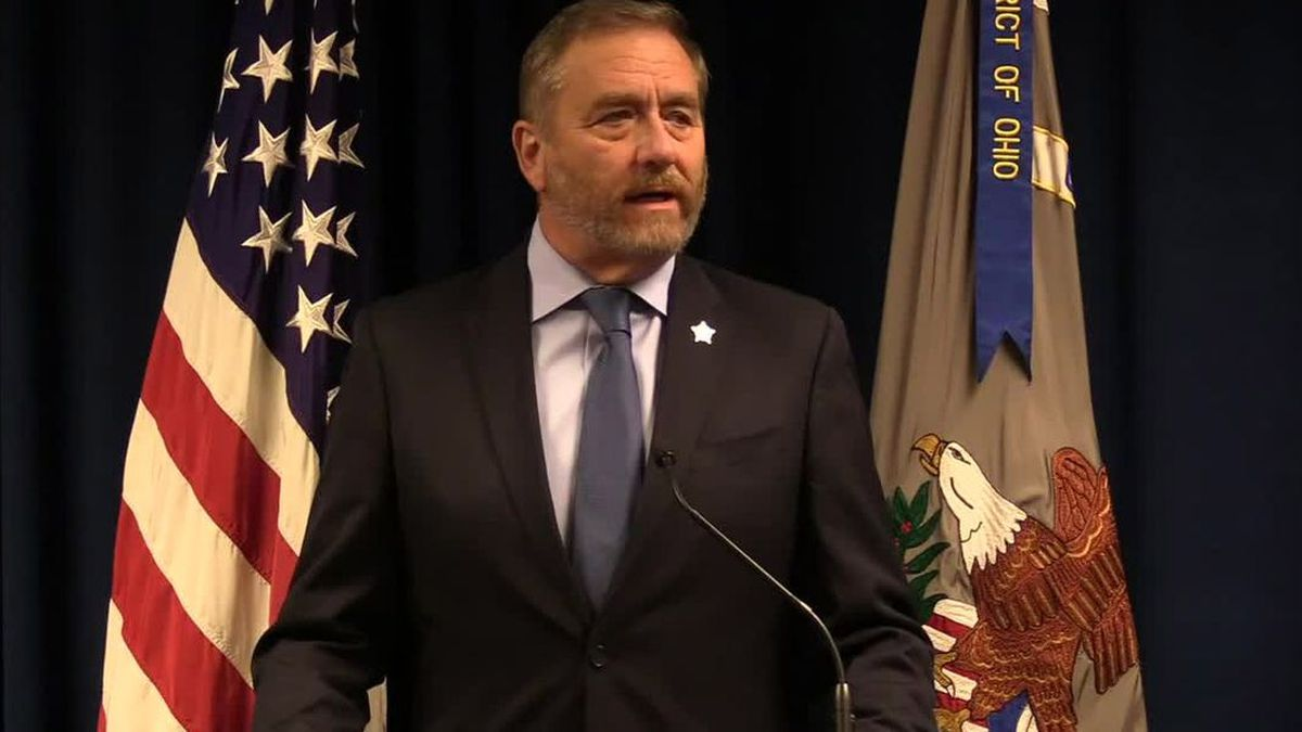 Ohio Attorney Gen. Dave Yost is shown in a file photo. On Monday, he announced massive arrests...