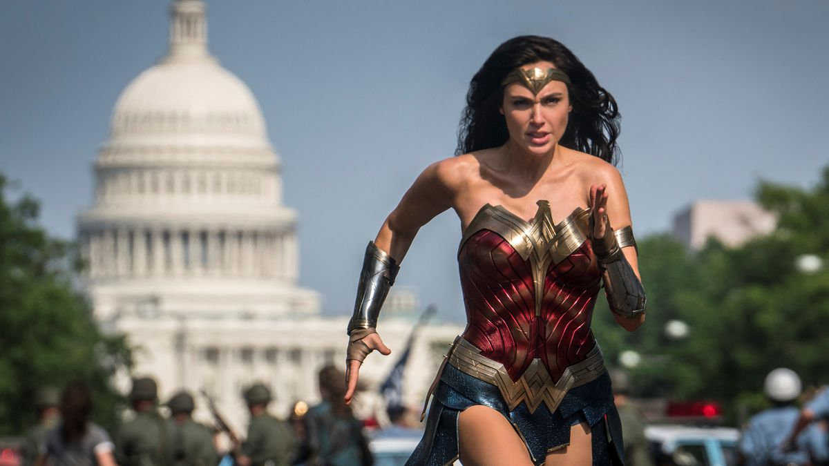 This image released by Warner Bros. Pictures shows Gal Gadot as Wonder Woman in a scene from...