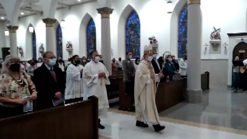 Healthcare professionals take part in White Mass