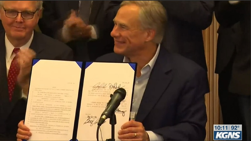 Governor Abbott signs new state bills into law