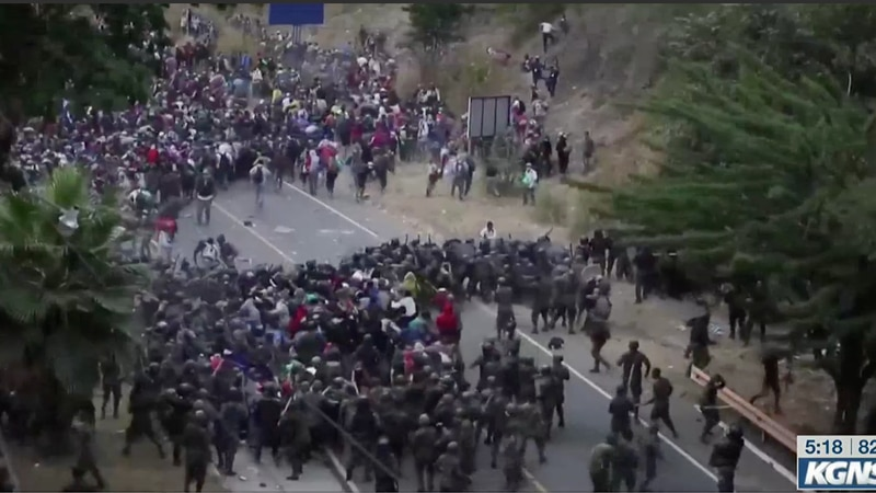 Clashes with caravan