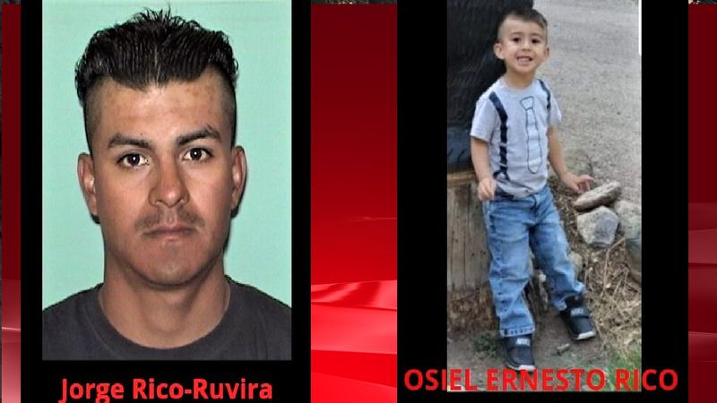 Victim and suspect in an AMBER Alert out of New Mexico.  Photos courtesy Roswell PD.