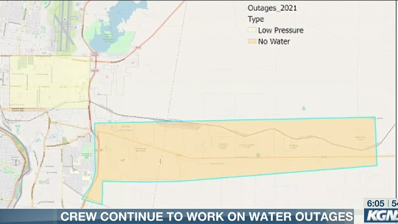 Crews continue to work on water outages