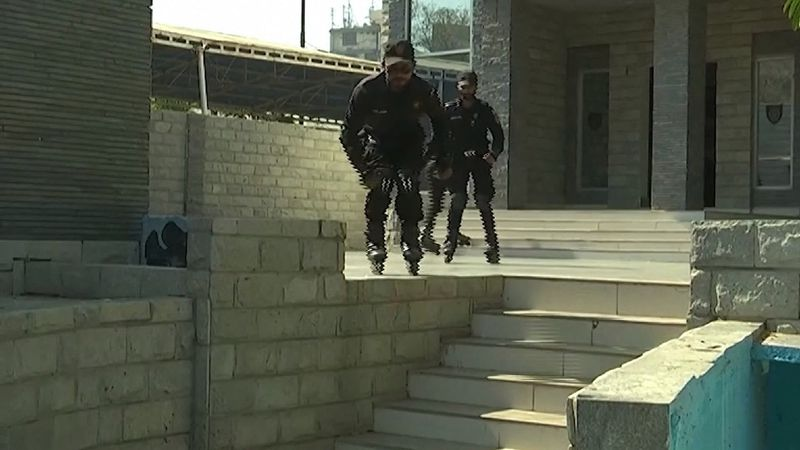 Cops in Pakistan are rollerblading to stop crime.