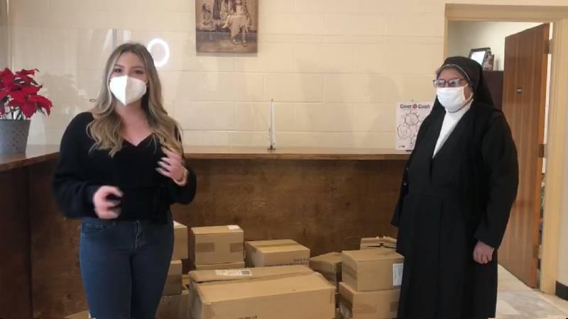 Gisela Contreras donates to Sacred Heart Children's Home
