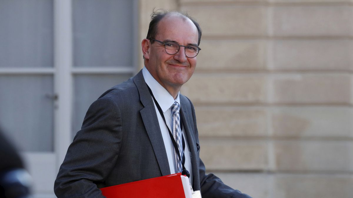 In this May 19, 2020 file photo, French government coordinator for the end of lockdown Jean Castex leaves after a videoconference with the French President and French mayors at the Elysee Palace in Paris. French President Emmanuel Macron has named Jean Castex, who coordinated France's virus reopening strategy, as new prime minister on Friday July 3, 2020. Emmanuel Macron is reshuffling the government to focus on reviving the economy after months of lockdown.
